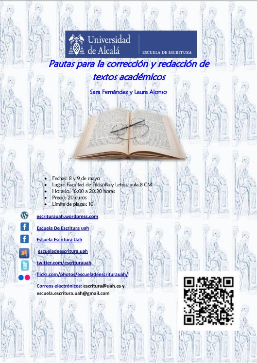 Cartel Pautas para la corrección y redacción de textos académicos