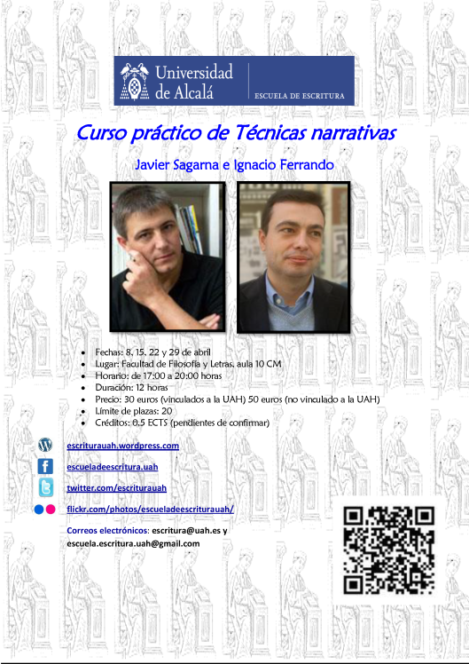 CARTEL CURSO PRÁCTICO DE TÉCNICAS NARRATIVAS